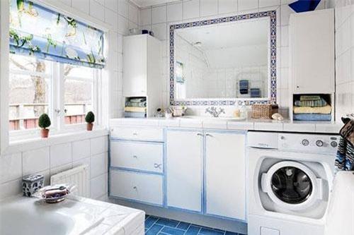 Không đặt máy giặt trong nhà vệ sinh