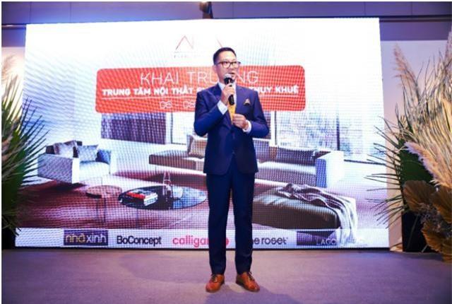 Ông Lý Qúy Trung – CEO AKA Furniture Group phát biểu tại sự kiện