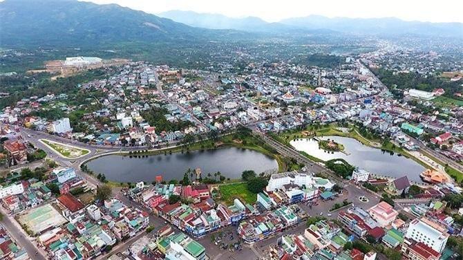 Thành phố Bảo Lộc nhìn từ trên cao