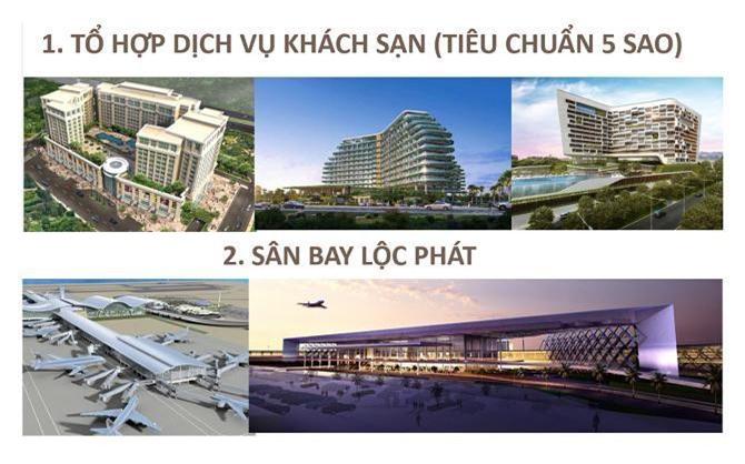 Dự án tổ hợp khách sạn 5 sao và Sân bay Lộc Phát (Ảnh: VH)