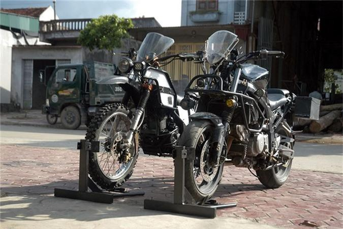 Dan choi Ninh Binh do Yamaha Tricker XG 250 kieu Rally Raid-Hinh-6