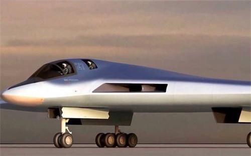 Đồ họa máy bay ném bom tương lai PAK DA (Poslanhik) của Nga. Ảnh: Sputnik.