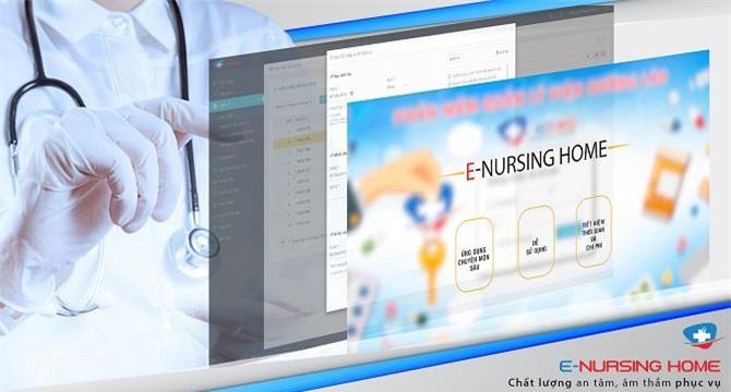 phần mềm E-nursing home có đầy đủ các chức năng quản lý thông tin liên quan đến chăm sóc sức khỏe của người già.