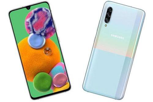 Samsung Galaxy A90 5G sử dụng khung viền bằng nhôm, 2 bề mặt bảo vệ bởi kính cường lực. Máy có kích thước 164,8x76,4x8,4 mm, cân nặng 206 g.