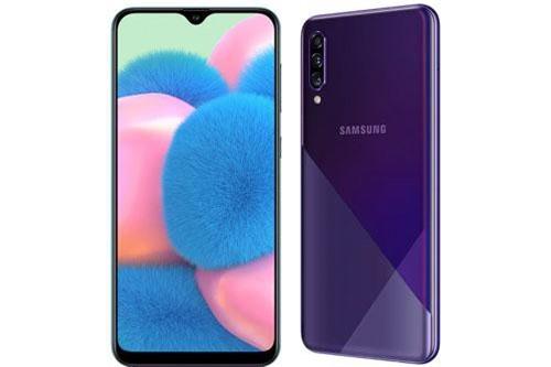 Samsung Galaxy A50s sử dụng vỏ bằng nhựa giả kính. Máy có kích thước 158,5x74,5x7,7 mm, trọng lượng 169 g.