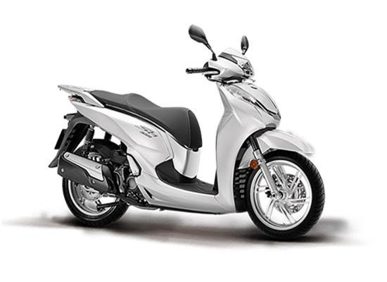 Honda SH 300i màu trắng đen.