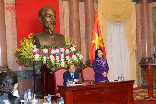 The Acting President Dang Thi Ngoc Thinh. Photo: Nguyen Cuong