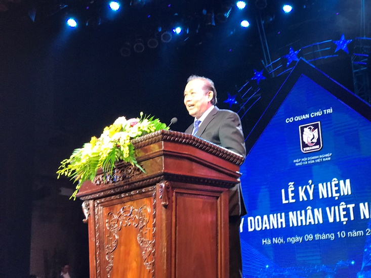 Mr. Truong Hoa Binh - Politburo member, Standing Deputy Prime Minister spoke and directed at the ceremony. (Photo: Thế Hiển). Mr. Truong Hoa Binh - Politburo member, Standing Deputy Prime Minister spoke and directed at the ceremony. (Photo: Thế Hiển).