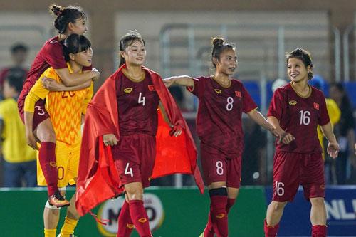 Đội tuyển nữ Việt Nam bảo vệ thành công ngôi vô địch. Ảnh: Zing.