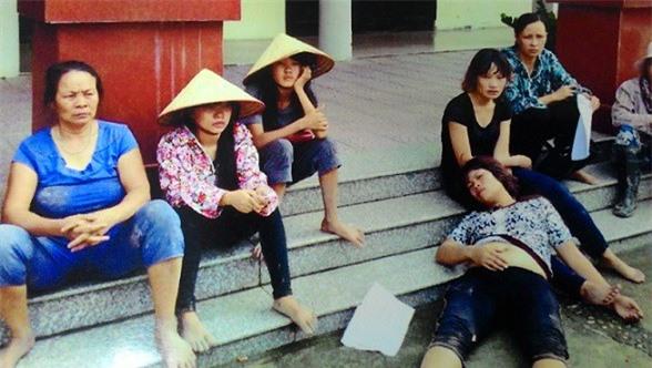 Chị Lương, con gái ông Kiểm bị đánh khi đang mang thai