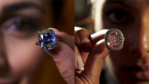 Hai viên kim cương xanh và hồng được tỷ phú Lưu mua tặng con gái Josephine.