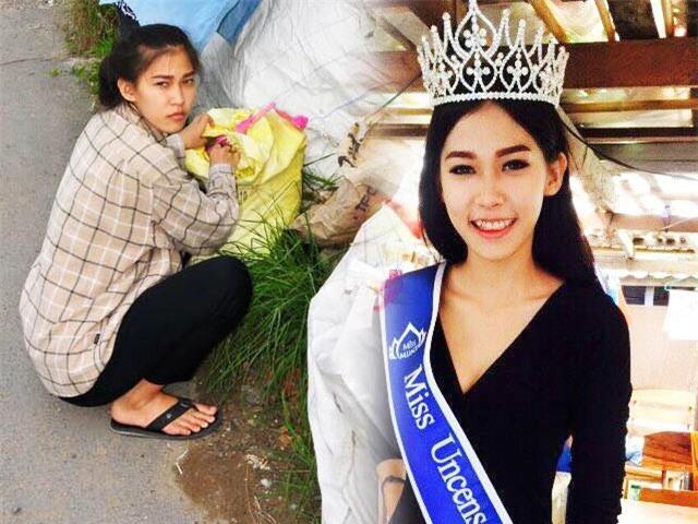 """Hoa hậu """"nhặt rác"""" Thái Lan có nguy cơ bị tước ngôi - Ảnh 1"""