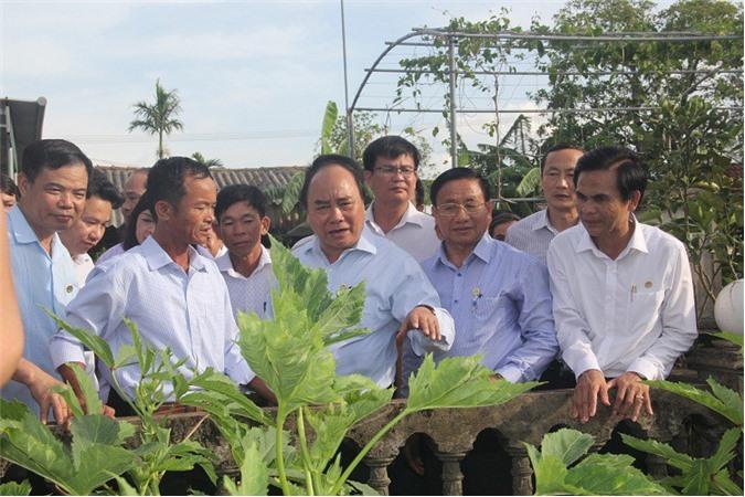 Thủ tướng Nguyễn Xuân Phúc thăm xã nông thôn mới kiểu mẫu tại Hà Tĩnh