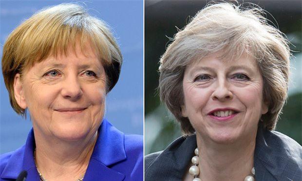 """Bà Angela Merkel và bà Theresa May sẽ có cuộc """"chạm trán lịch sử"""" vào hôm nay (Ảnh BBC)"""