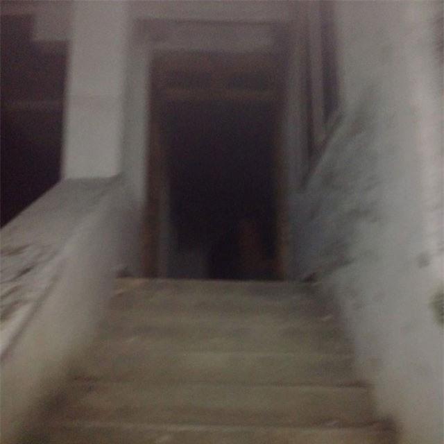 Hành lang đi vào trong biệt thự.