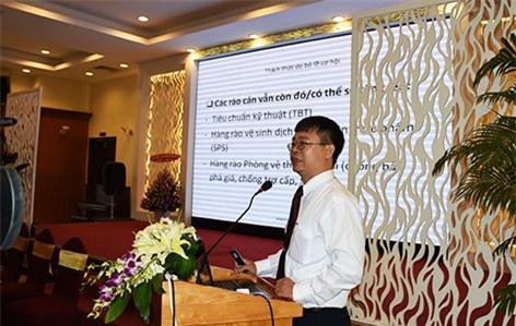 ông Trần Ngọc Liêm - Phó Giám đốc VCCI Hồ Chí Minh báo cáo tham luận