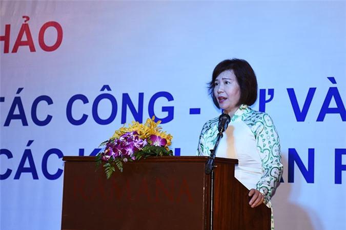 Thứ trưởng Bộ Công Thương Hồ Thị Kim Thoa phát biểu tại Hội thảo