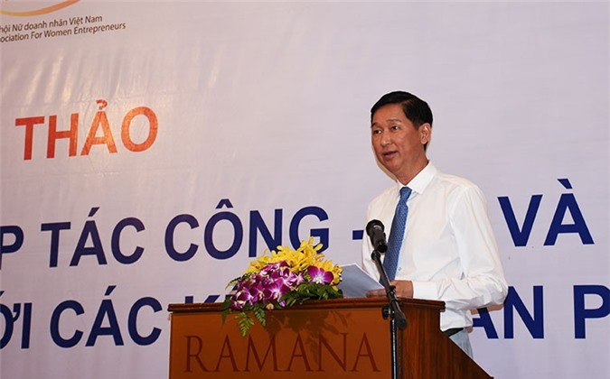 Phó Chủ tịch UBND TP.HCM Trần Vĩnh Tuyến phát biểu tại Hội thảo