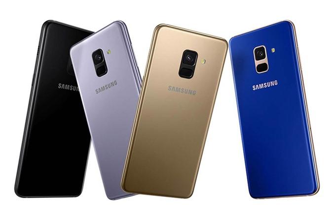 6. Samsung Galaxy A8 2018 (dung lượng pin: 3.000 mAh, thời gian sạc đầy: 97 phút).