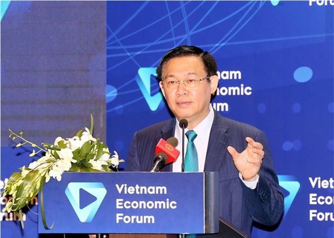 Phó Thủ tướng Vương Đình Huệ phát biểu tại diễn đàn. Ảnh: VGP/Thành Chung.