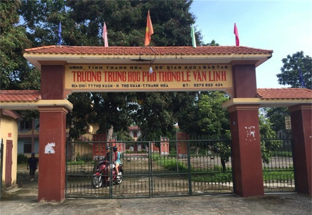 Trường THPT Lê Văn Linh (huyện Thọ Xuân, Thanh Hóa) là một trong 5 đơn vị giải thể trong đợt này.