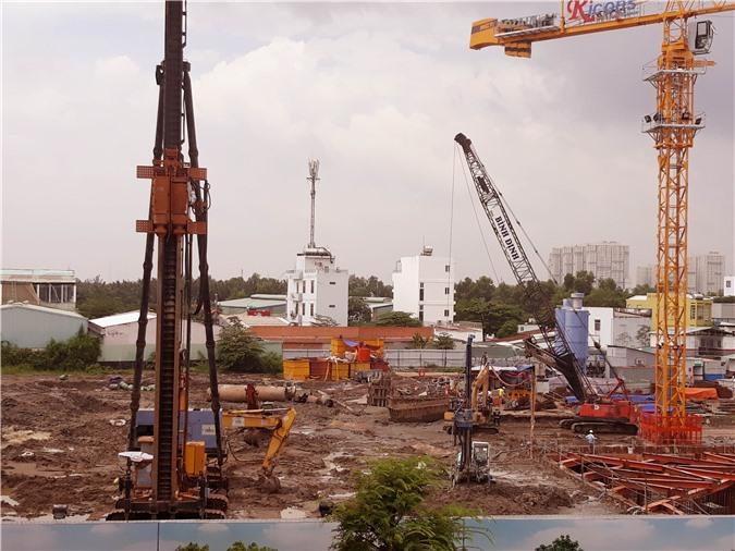 Vị trí được cho là xây dựng dự án Sky 89 vẫn đang ngổn ngang.