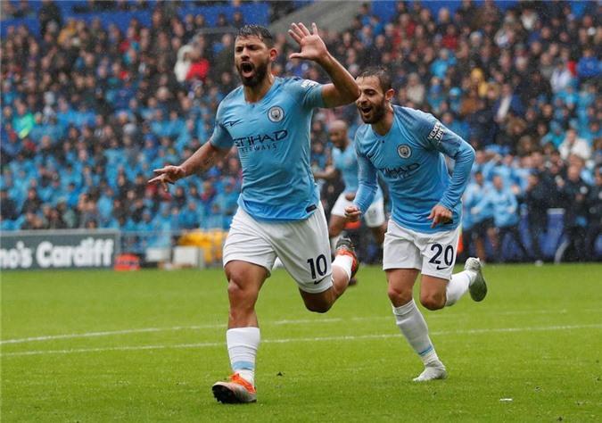 Man City đại thắng 5-0 trước Cardiff.