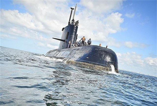 Tàu ngâm ARA San Juan. Ảnh: Hải quân Argentina