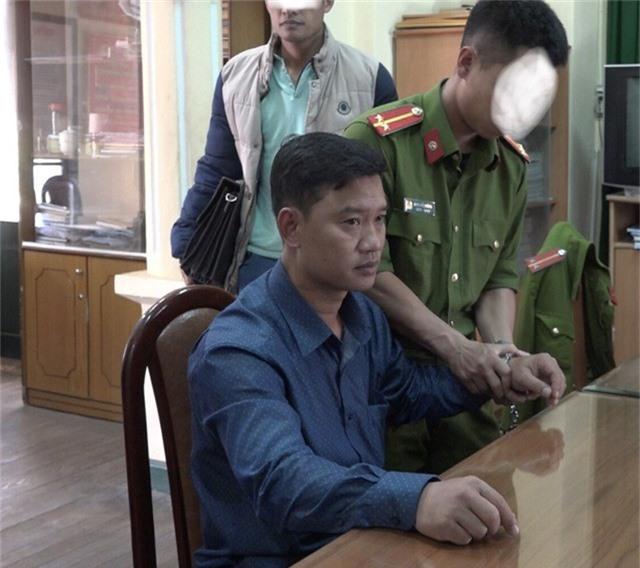 Nguyễn Quốc Dân tại cơ quan công an