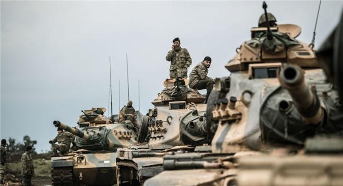Quân đội Thổ Nhĩ Kỳ gần biên giới Syria. (Ảnh: Sputnik)