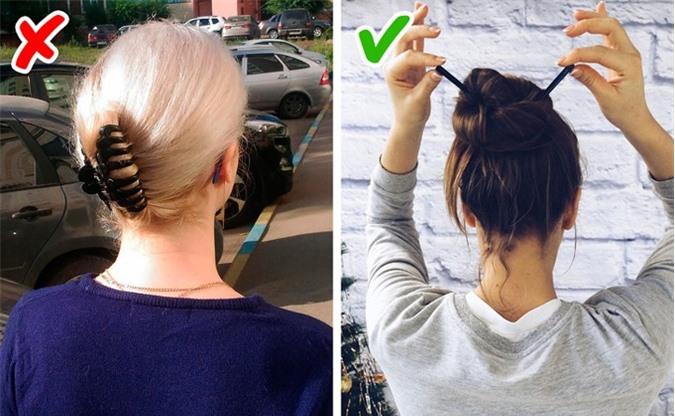 Bạn đừng nên kẹp tóc giống bà cô già đi ra đường vì nó chỉ phù hợp với ở nhà thôi.