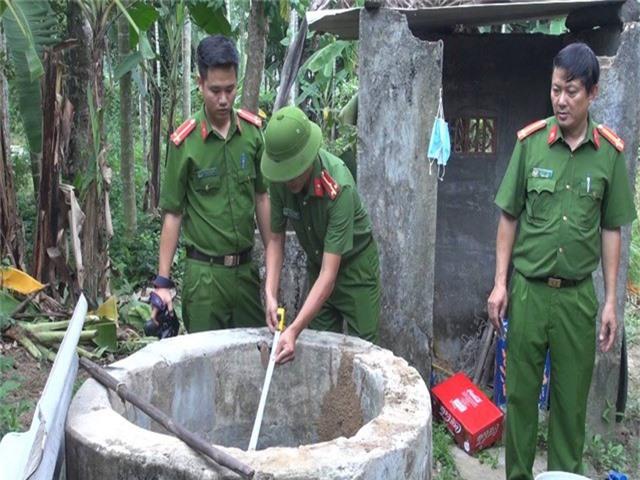 Công an tỉnh Quảng Ngãi khám nghiệm hiện trường vụ việc