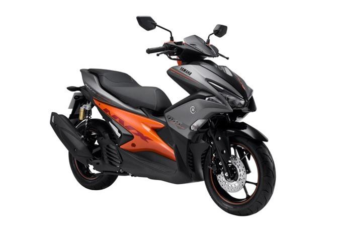 Yamaha NVX 155 ABS màu xám cam.