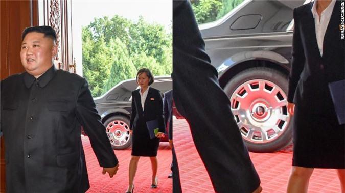 Chủ tịch Triều Tiên Kim Jong-un tới gặp Ngoại trưởng Mỹ Mike Pompeo tại Triều Tiên hôm 07/10.