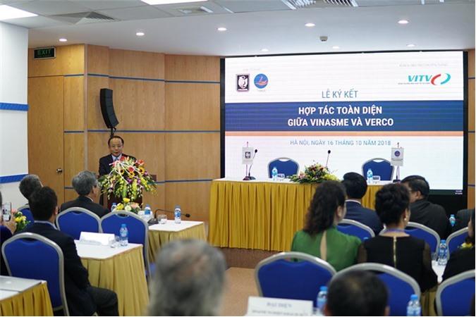 Ông Nguyễn Văn Thân – Chủ tịch VINASME phát biểu tại buổi Lễ ký kết Hợp tác toàn diện giữa VINASME và VERCO. (Ảnh: VINASME)