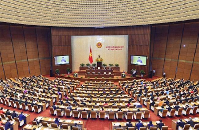 Toàn cảnh phiên khai mạc Kỳ họp thứ sáu, Quốc hội Khóa XIV. (Ảnh: VPQH)