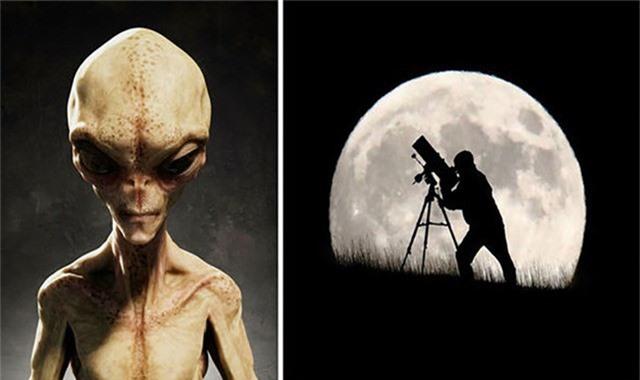 """Những người theo thuyết âm mưu đang cho rằng mặt trăng là """"căn cứ"""" của người ngoài hành tinh."""