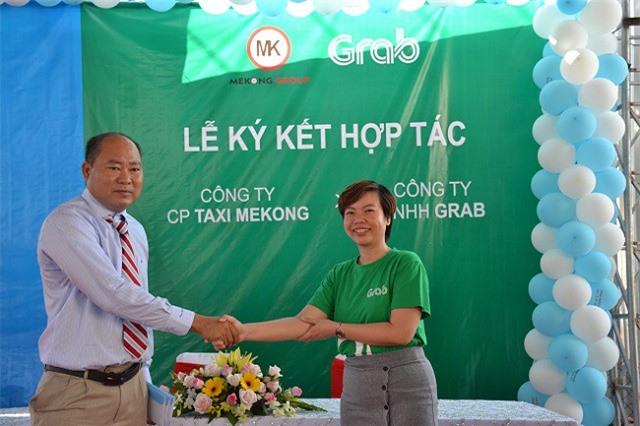 Grab và Công ty CP Taxi Mekong triển khai dịch vụ GrabTaxi tại tỉnh Bạc Liêu (Ảnh: Grab)