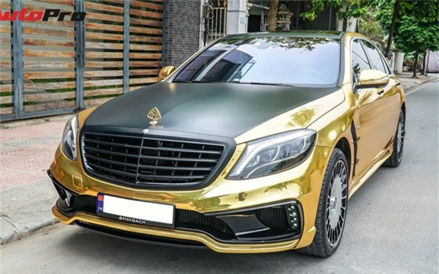 """Mercedes-Benz S400 độ Maybach S600 """"dát vàng"""" của thiếu gia 9X Việt."""