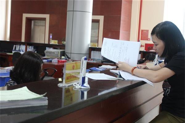 Hoạt động nghiệp vụ tại KBNN Quảng Ninh. ẢNh TL.