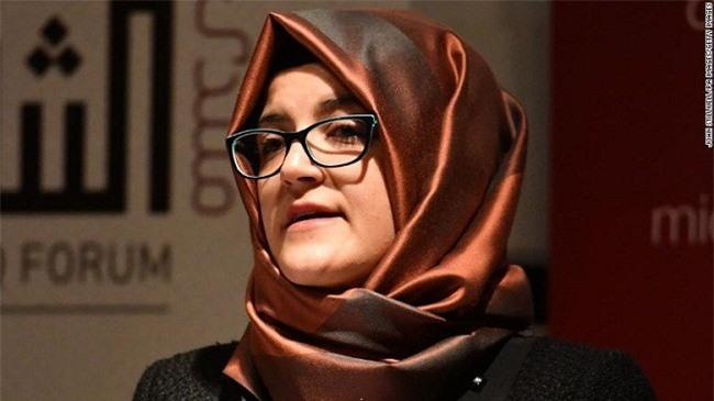 Hatice Cengiz, vợ chưa cưới của nhà báo Ả Rập Saudi Jamal Khashoggi.