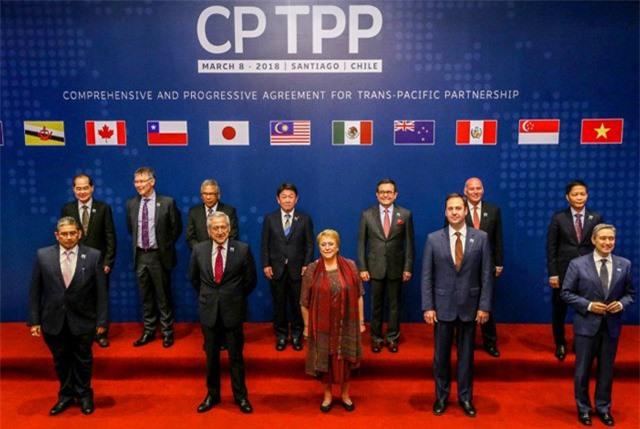 Lễ kí kết chính thức Hiệp định CPTPP ngày 8/3 tại Santiago de Chile.