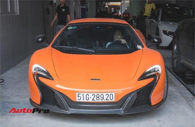 Siêu xe McLaren 650S sở hữu màu sơn giống với của Minh Nhựa dạo phố Sài Thành - Ảnh 1.