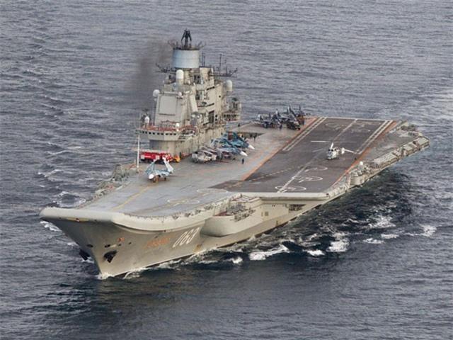 Đô đốc Kuznetsov là tàu sân bay duy nhất của Nga đang hoạt động.