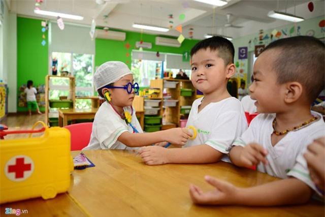 Trường mầm non ở thành phố phải có diện tích tối thiểu 8 m2/trẻ. Ảnh: A.T.