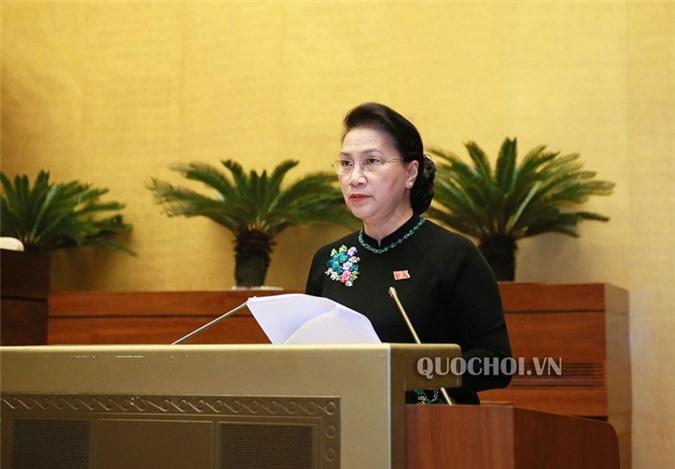 Chủ tịch Quốc hội Nguyễn Thị Kim Ngân phát biểu kết luận phiên chất vấn tại Kỳ họp thứ sáu. (Ảnh: VPQH)