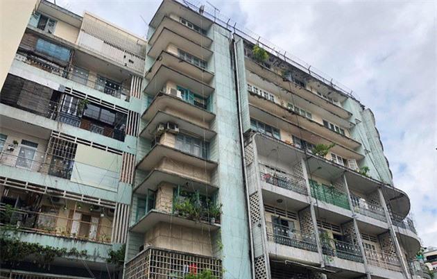 chung cư 155-157 Bùi Viện (phường Phạm Ngũ Lão, quận 1, TP HCM) có quy mô gồm tầng trệt, 6 tầng lầu và sân thượng