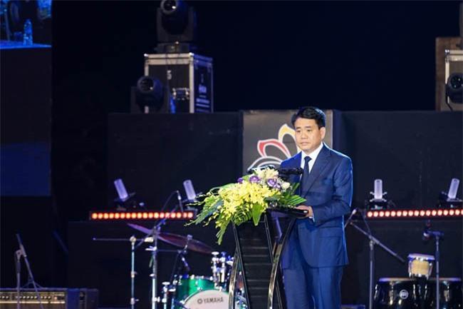 Ông Nguyễn Đức Chung, Chủ tịch UBND TP Hà Nội, phát biểu tại lễ hội (ảnh TTXVN)