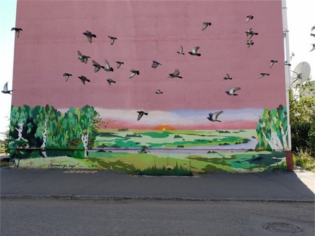 Những chú chim giúp cho bức tranh trở nên hoàn hảo hơn