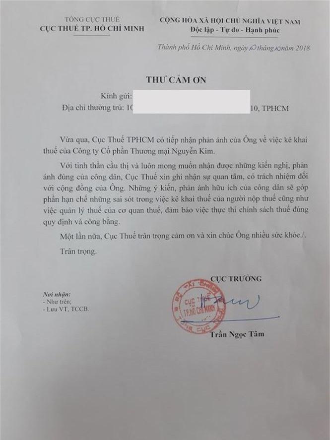 Thưởng 3 triệu đồng người cung cấp thông tin truy thu thuế Nguyễn Kim - ảnh 1